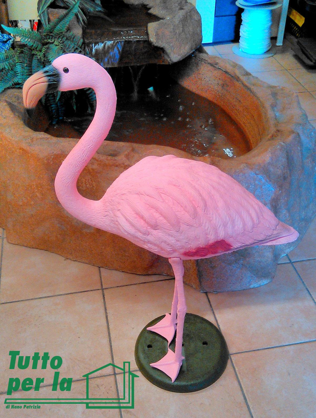 Fenicottero rosa h cm 80 in plastica resina flamingo giardino for Fenicottero decorativo giardino